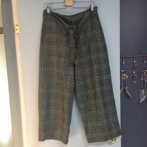 Zara plaid high waisted trousers